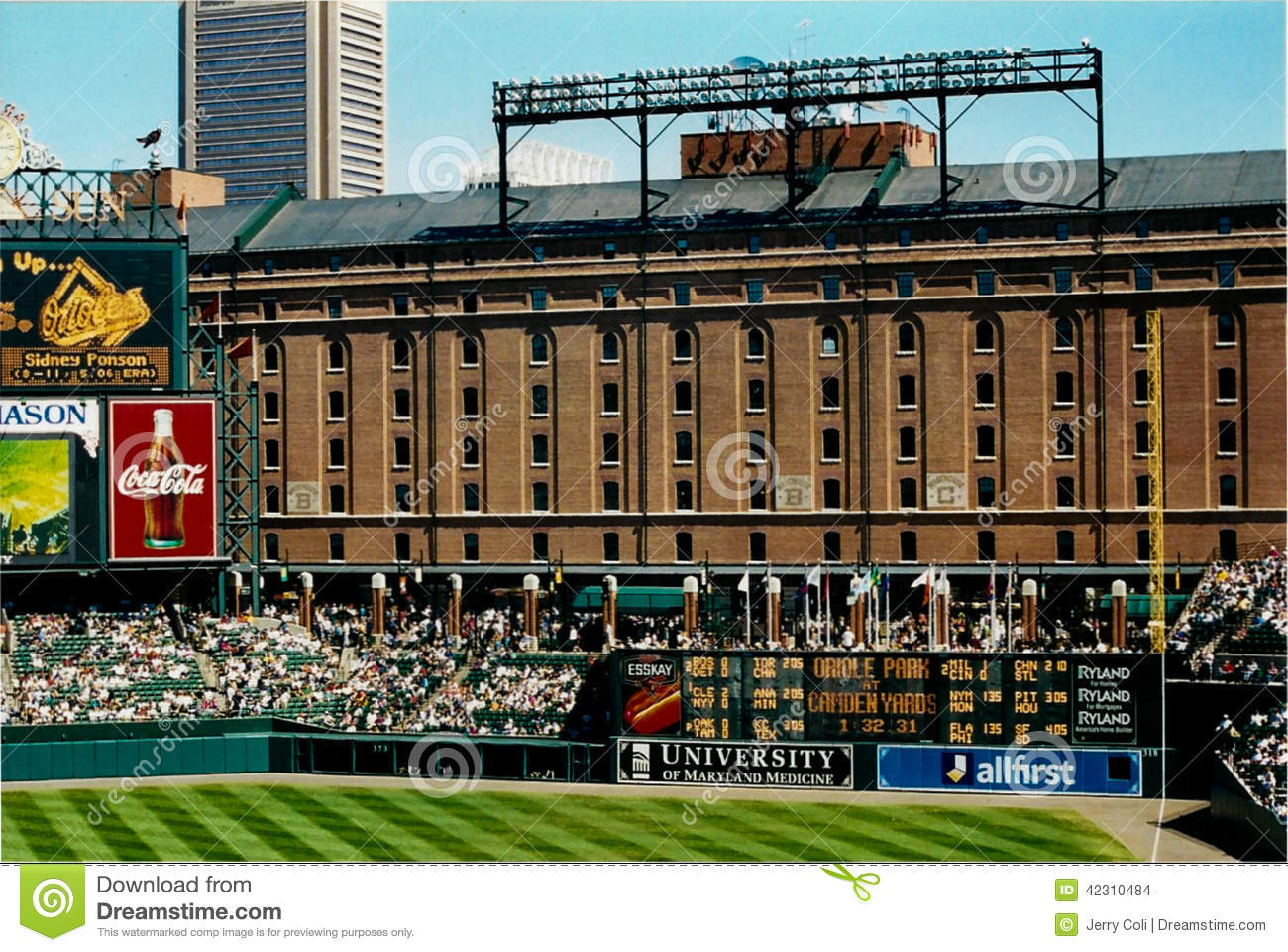 Warehouse Behind Oriole Park At Camden Yards Editorial Stock Image Image 42310484
