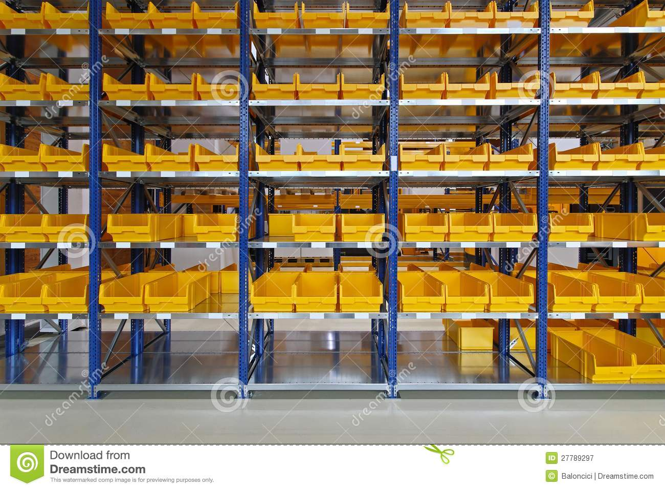 Warehouse Bin Trays Stock Image Of Boxes