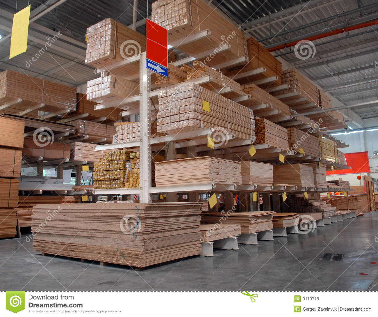 Warehouse Of Building Materials Stock Photo Image Of