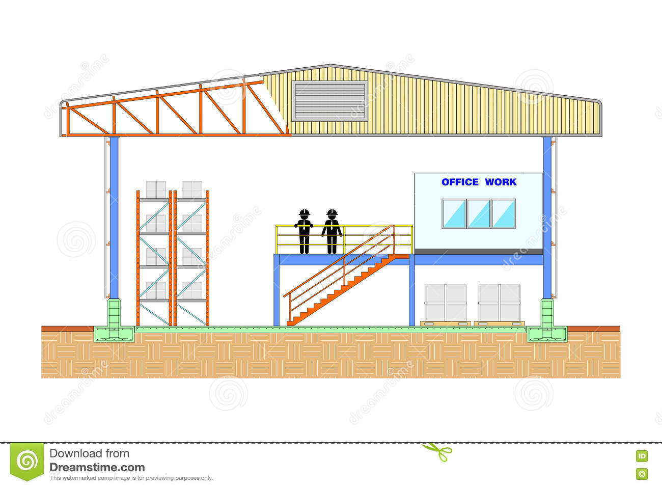 Warehouse Building Storage Section Structure Design