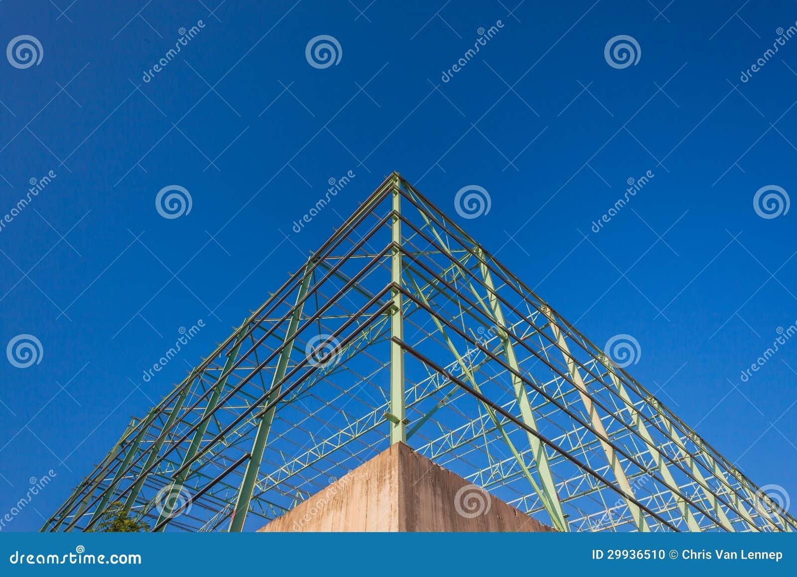 Building Corner Construction Steel Blue