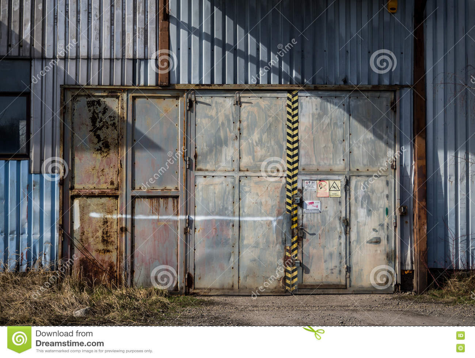 Royalty Free Stock Photo. Download Warehouse Doors ...