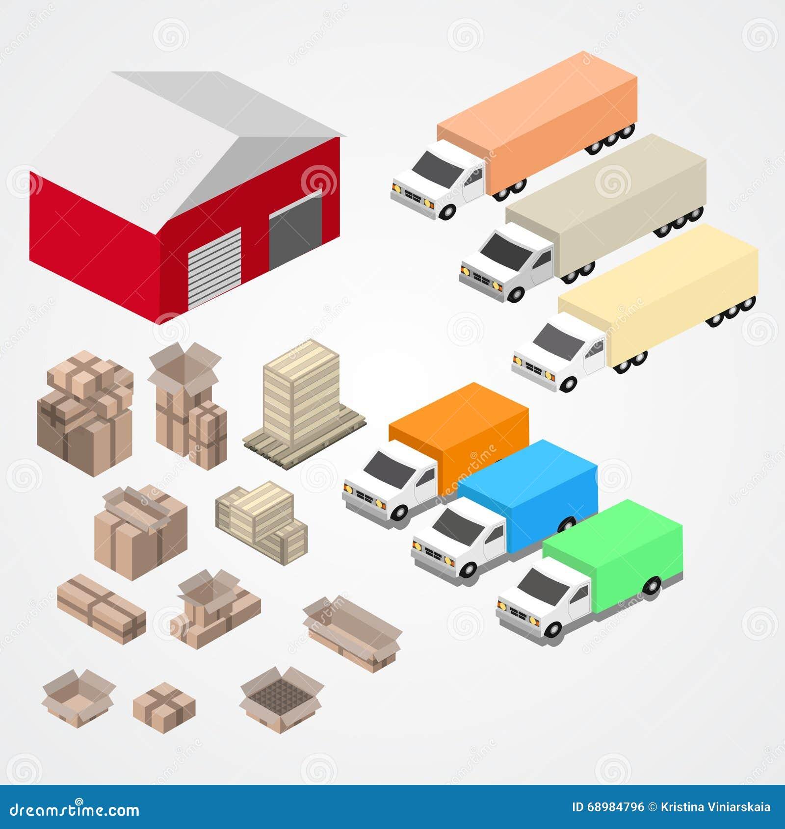 Warehouse, el logisti y la fábrica, edificio del almacén, almacenan exterior