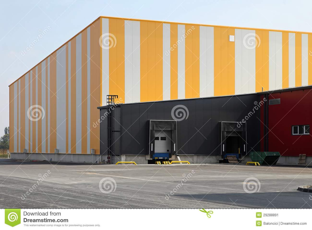 Warehouse Exterior Stock Image Image Of Colourful Business 29288891