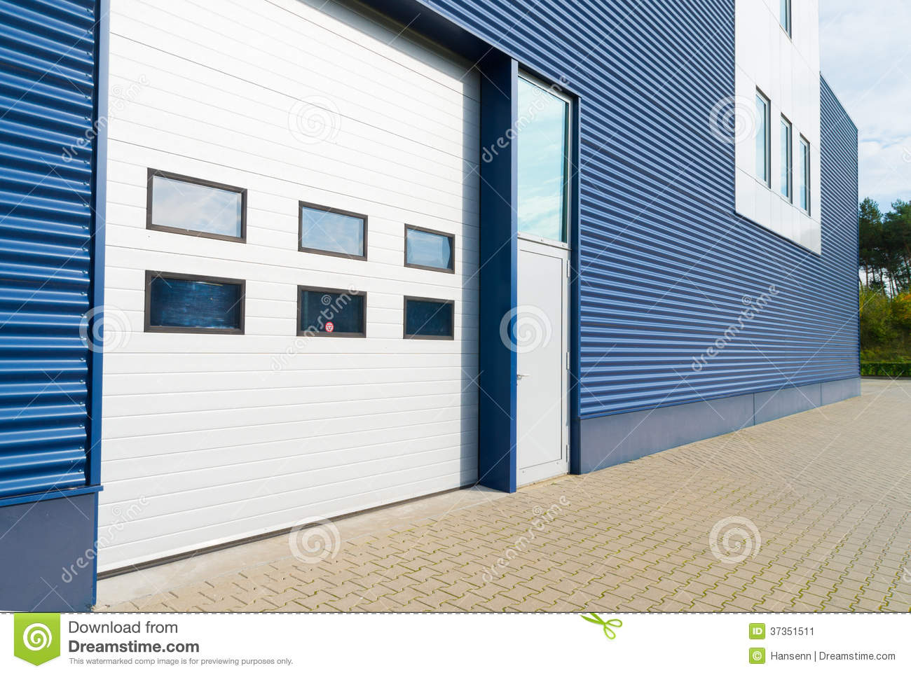 Warehouse exterior stock image image 37351511 for Modern office exterior design