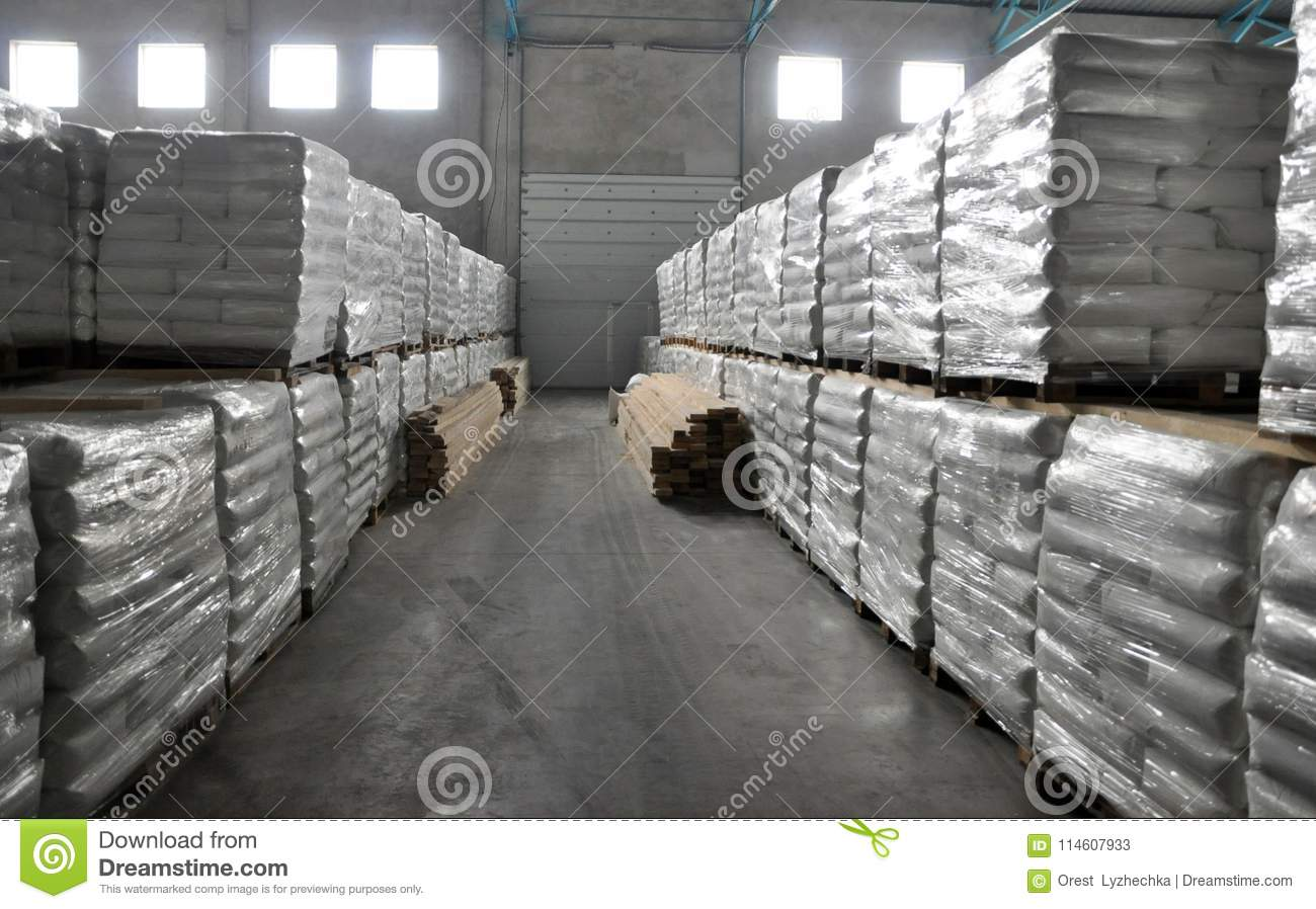 Warehouse building potato products