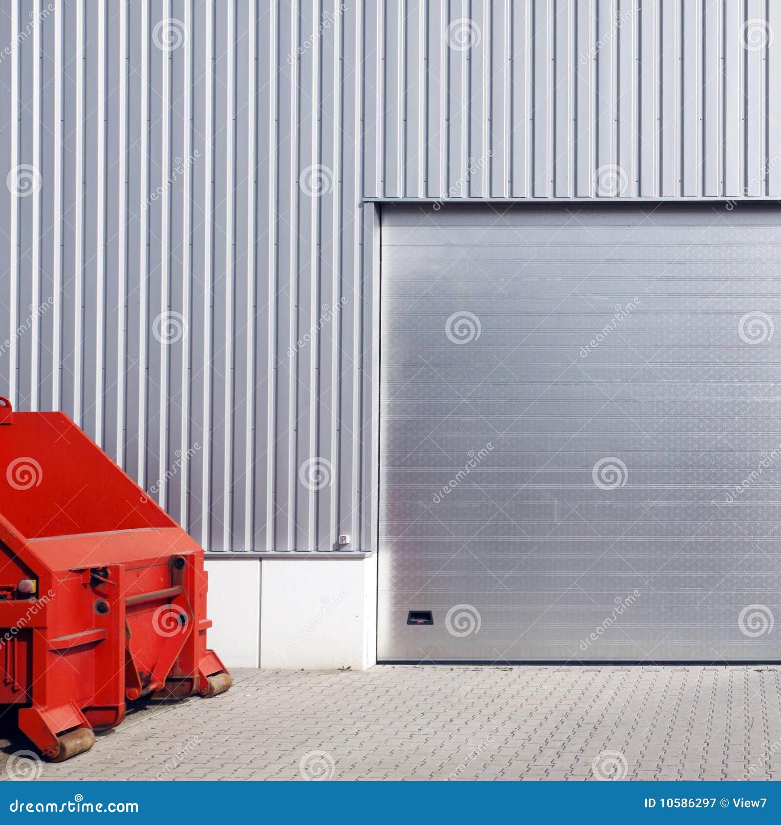 Warehouse Garage Door Royalty Free Stock Photography