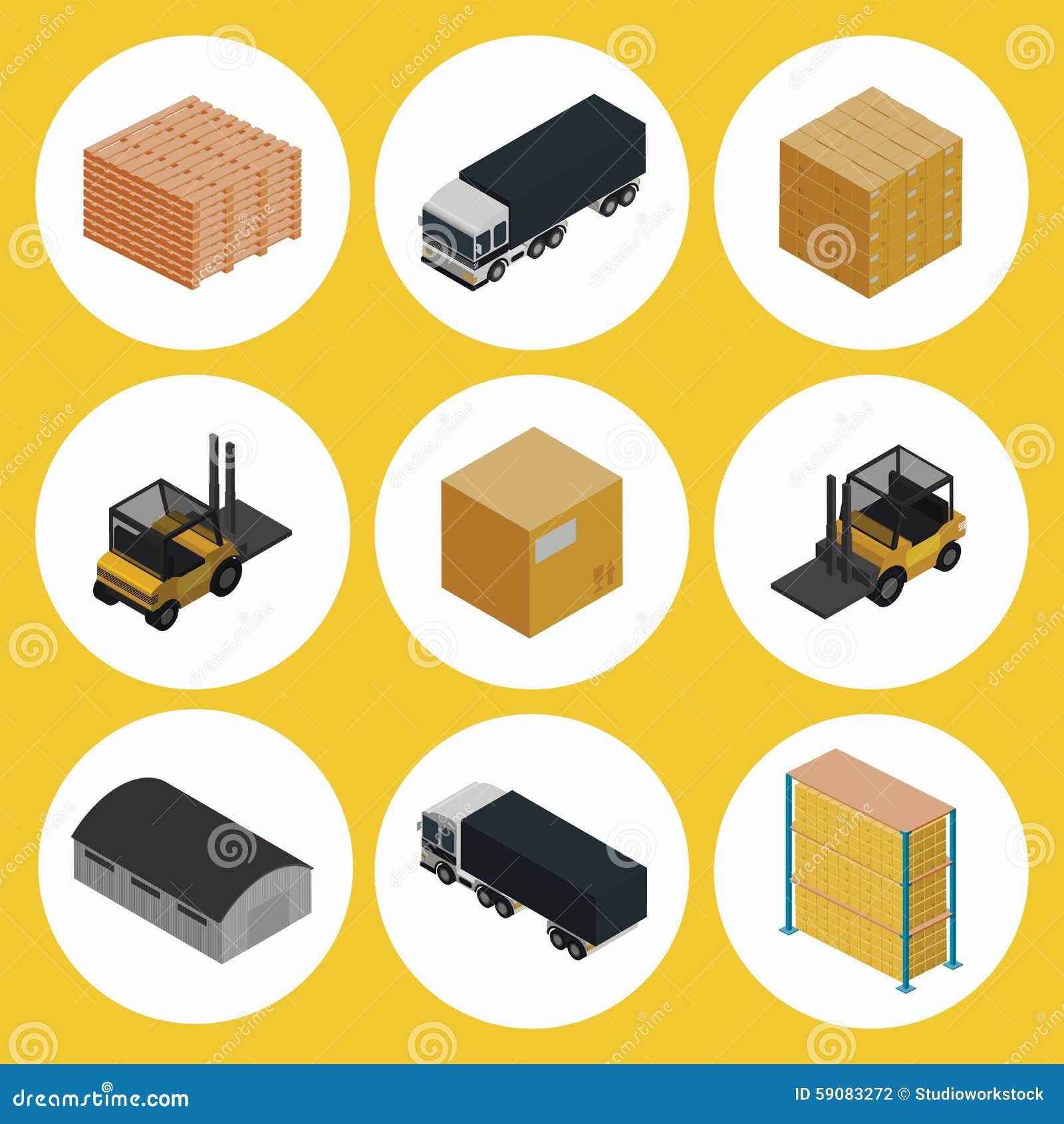 Warehouse Icon Set  Ic...
