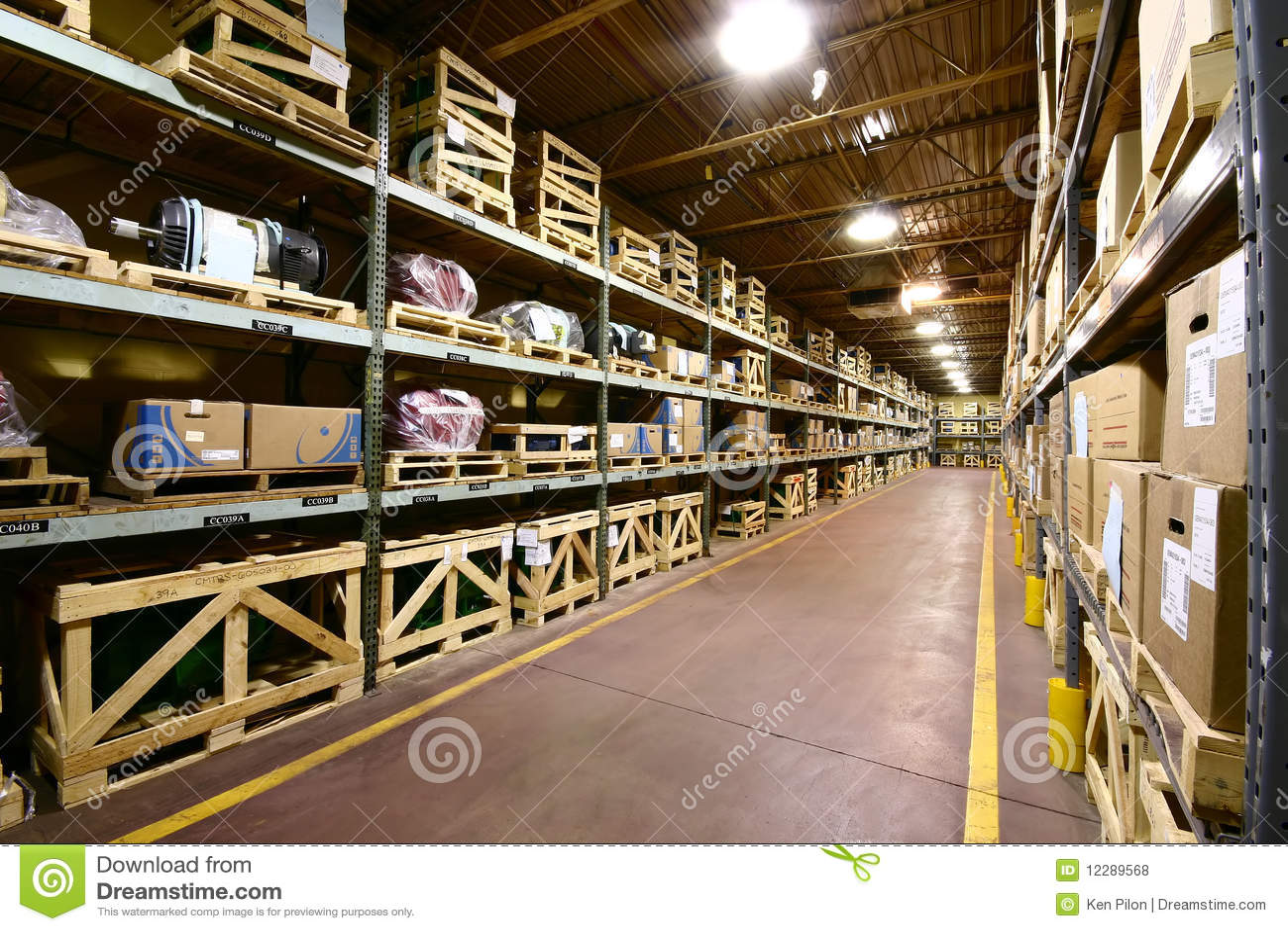 Royalty Free Stock Photo. Download Warehouse Interior ...