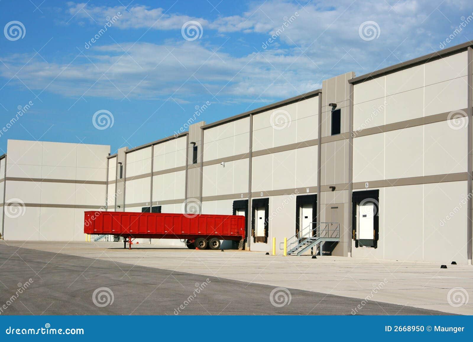 Warehouse Loading Dock Stock Photo Image 2668950