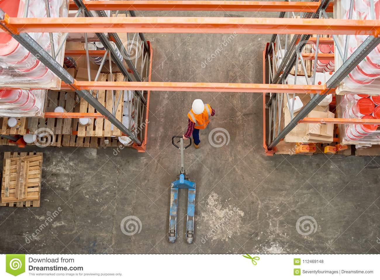 Warehouse Mover Above View stock photo  Image of store