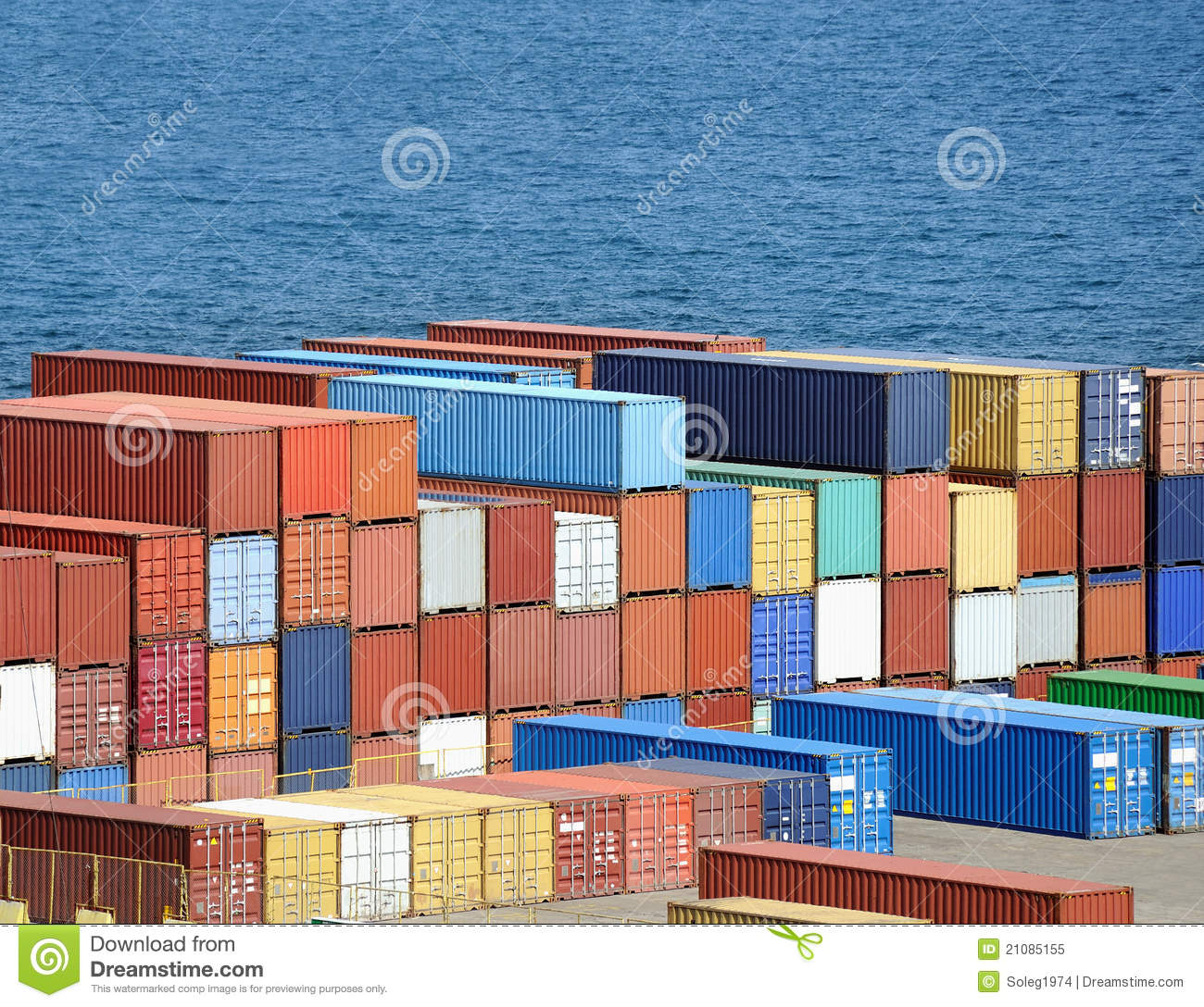 Warehouse With Sea Containers Royalty Free Stock Photo - Image ...