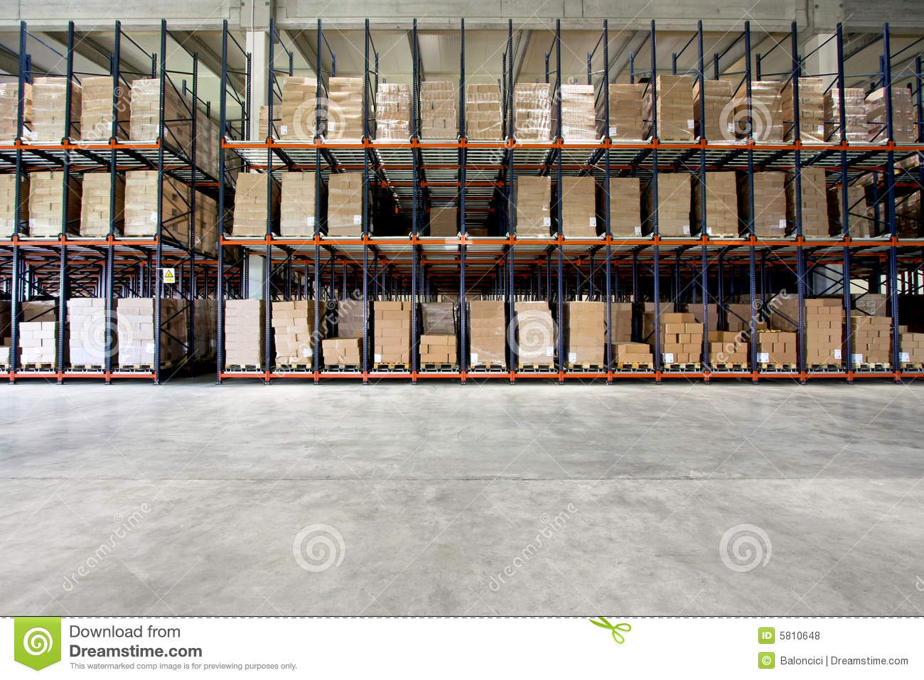 Warehouse shelf