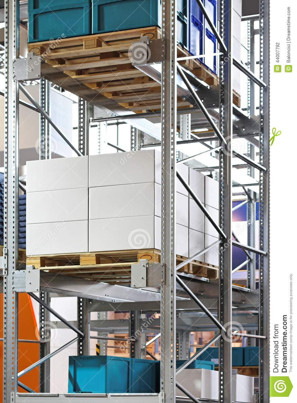 Warehouse shelving stock photo image 44007792 Warehouse racking layout software free