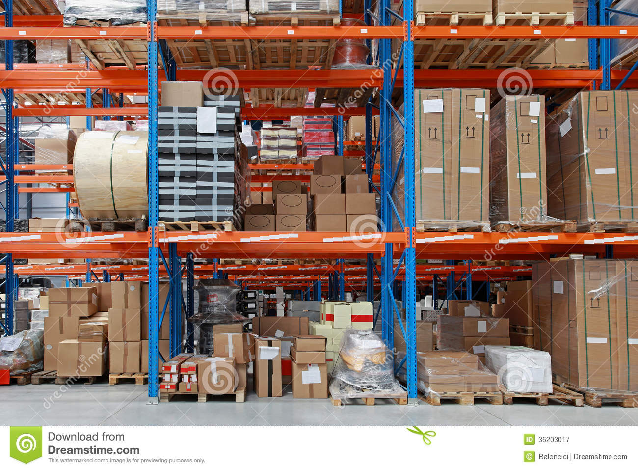 Warehouse royalty free stock photography image 36203017 for Warehouse racking layout software free