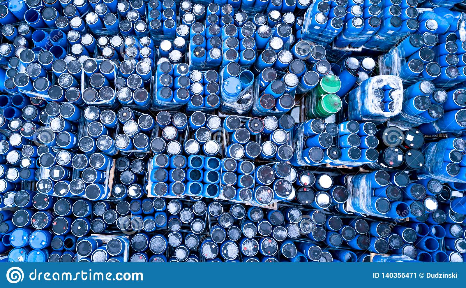 Warehouses for refrigeration plants, containers. Barrels