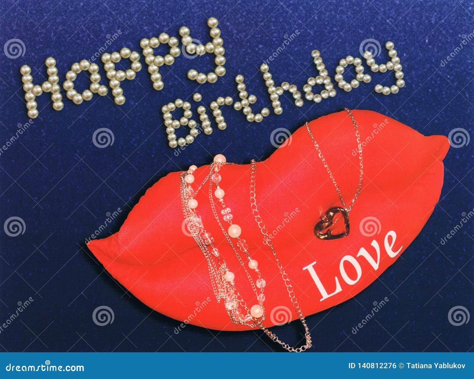 Warg, pereł i klejnotów wszystkiego najlepszego z okazji urodzin powitanie,