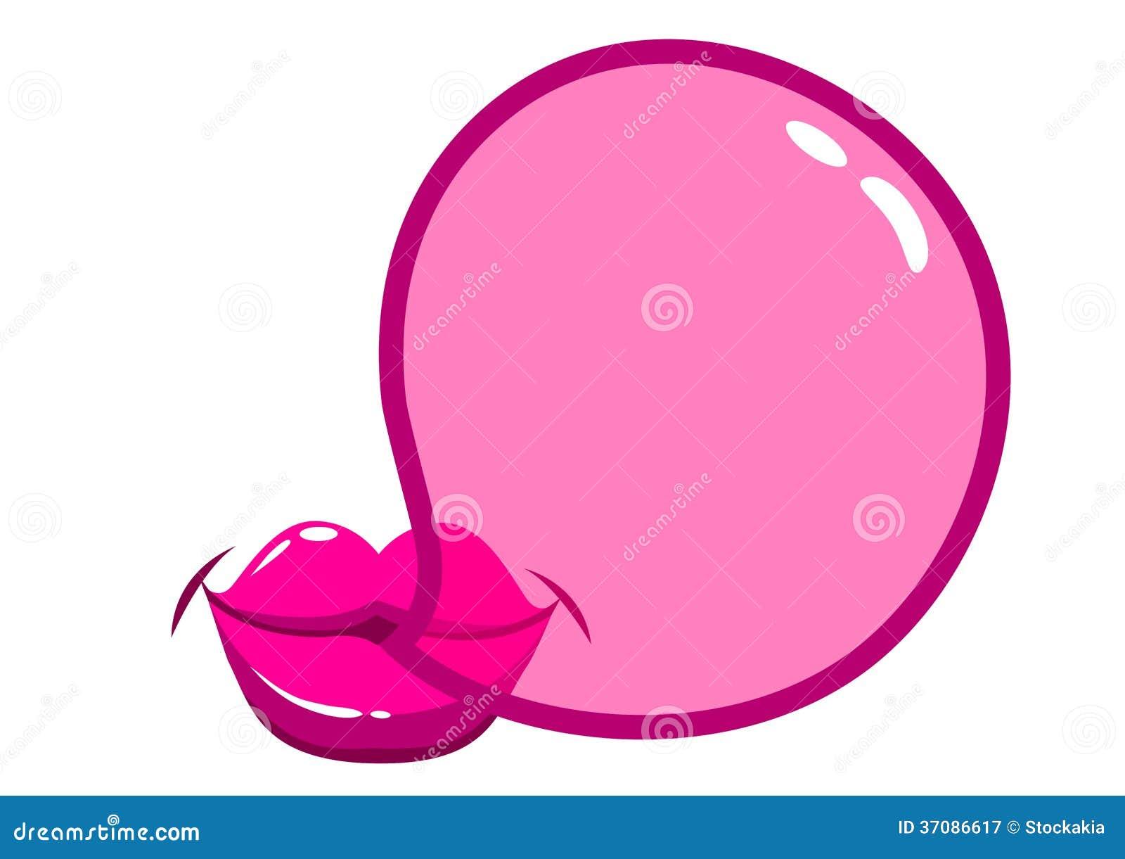 Download Wargi Dmucha Bubblegum Bąbel Ilustracja Wektor - Ilustracja złożonej z ilustracje, cukierek: 37086617