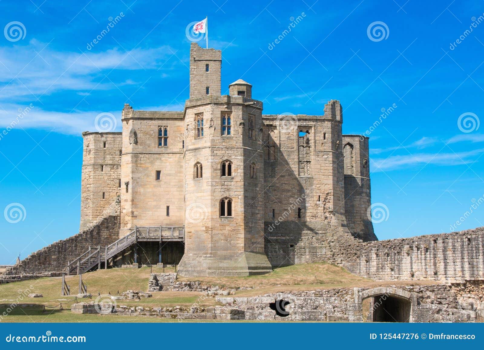 Warkworth城堡英国英国欧洲