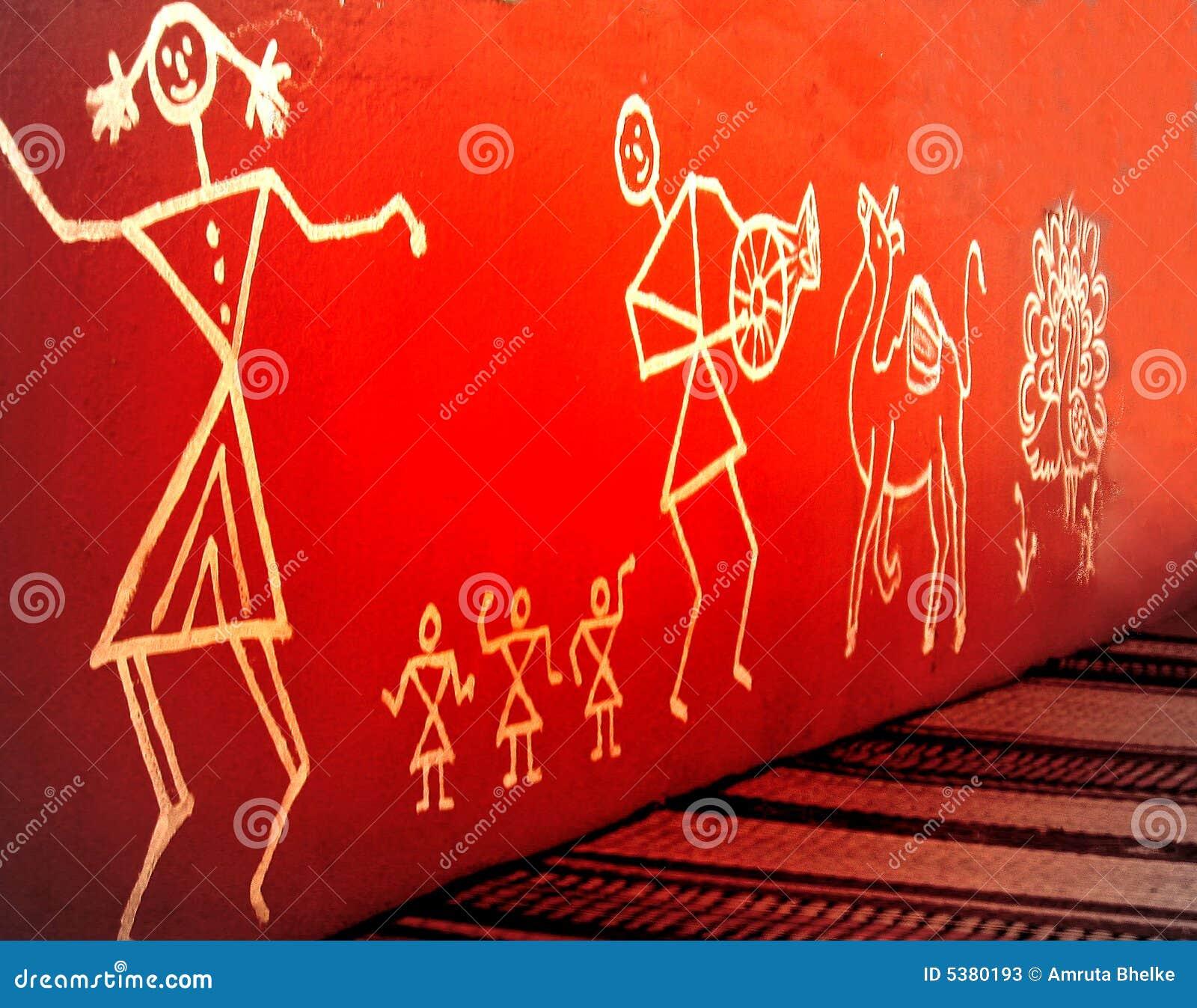 Warli Painting Stock Photos Image 5380193