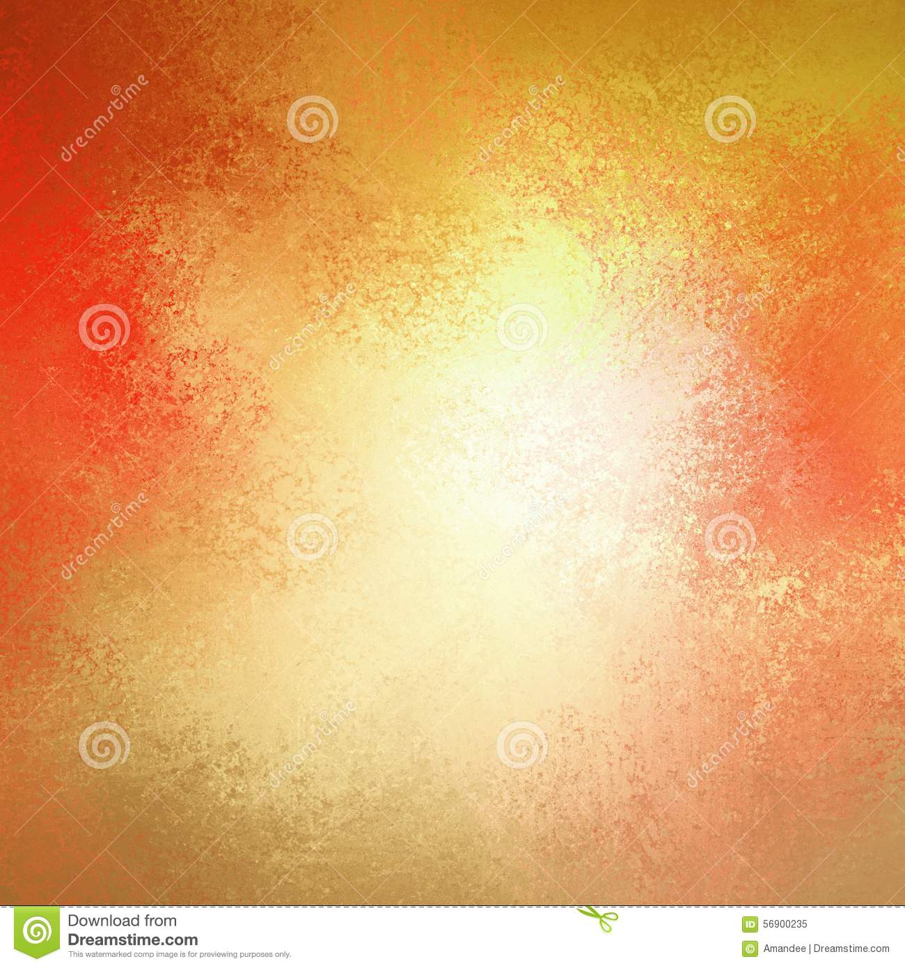 Warm autumn background in red pink gold yellow and orange with white center and vintage grunge background texture, colorful