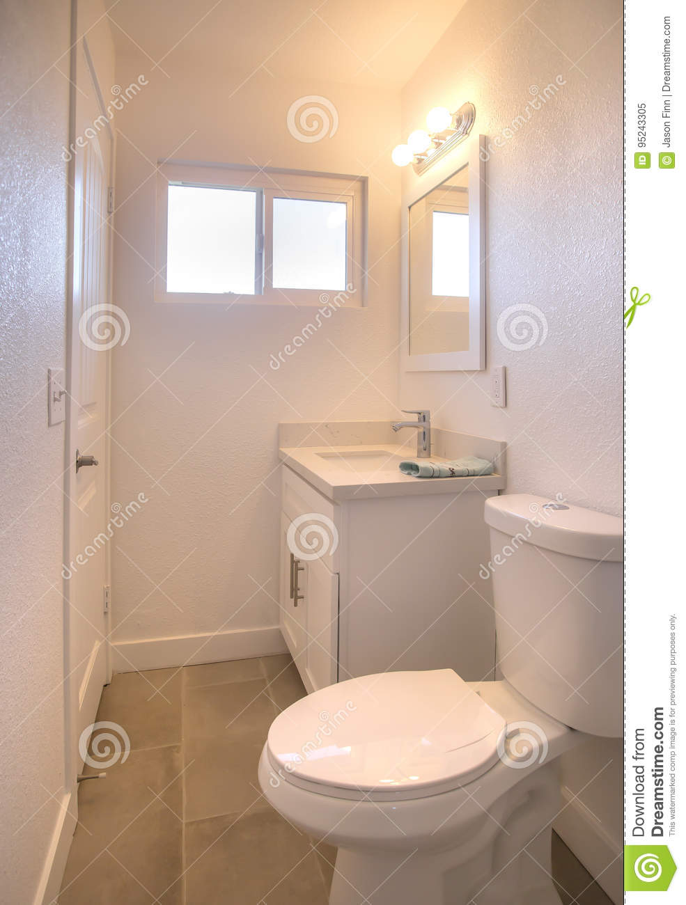 Warm Bathroom With Small White Window Stock Image - Image ... on Bathroom Model Design  id=41757