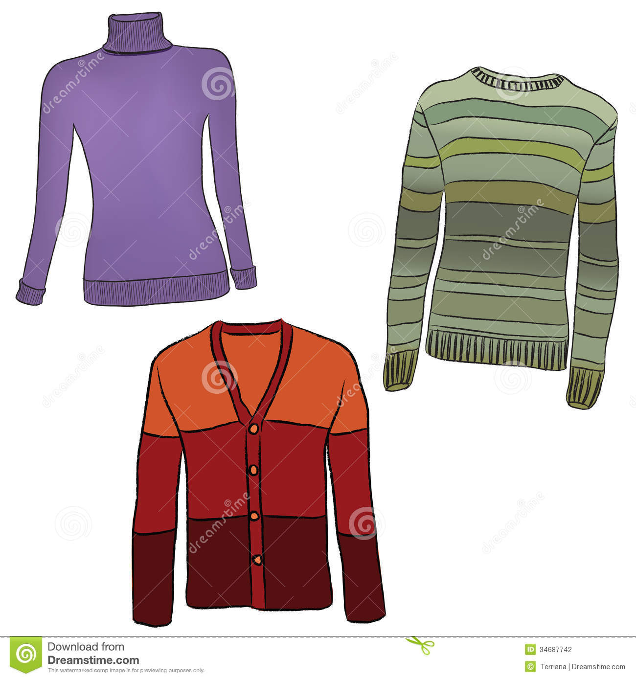 Warm Clothes Set. Stock Photography