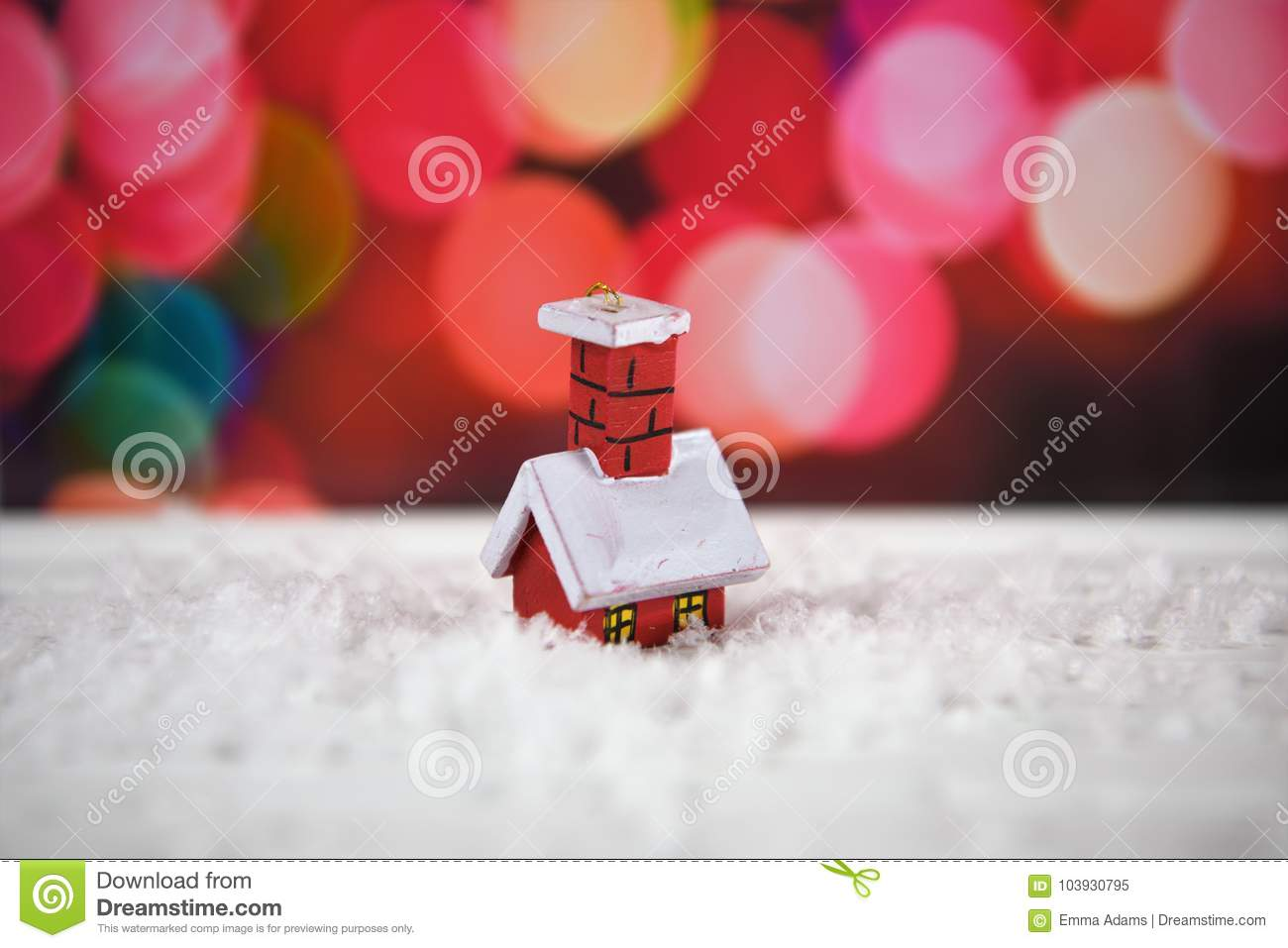 Warm Color Christmas Photography Image With Cute Little