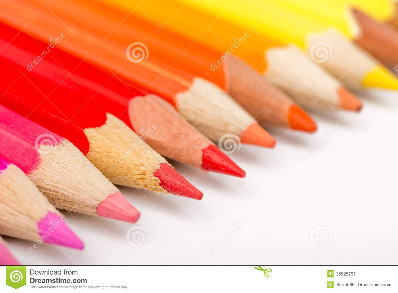 warm color pencils royalty free stock photography image