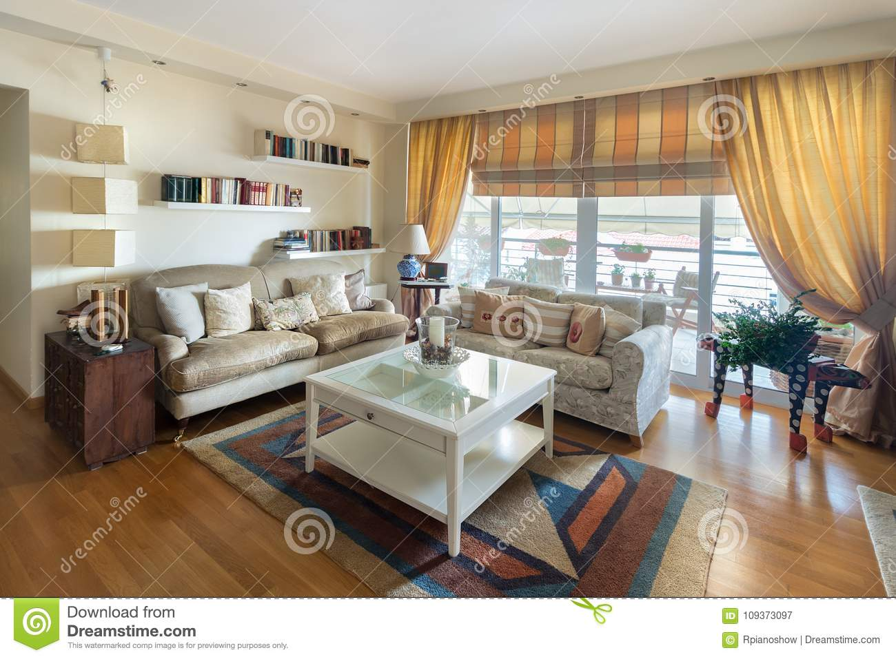 Outstanding Warm Contemporayy Style Living Room With Two Sofas On An Oak Dailytribune Chair Design For Home Dailytribuneorg