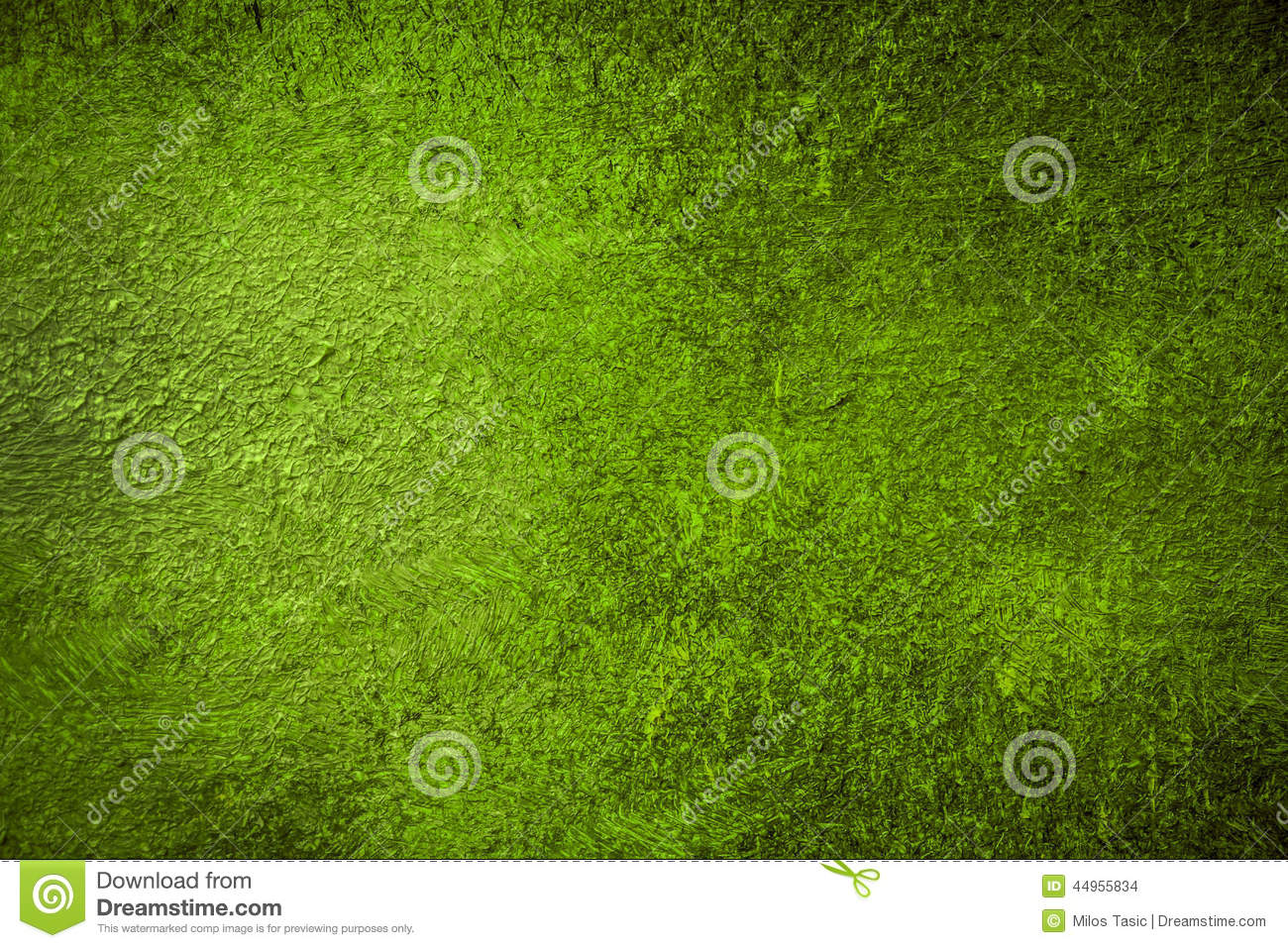 Warm Green Painted Background Stock Photo