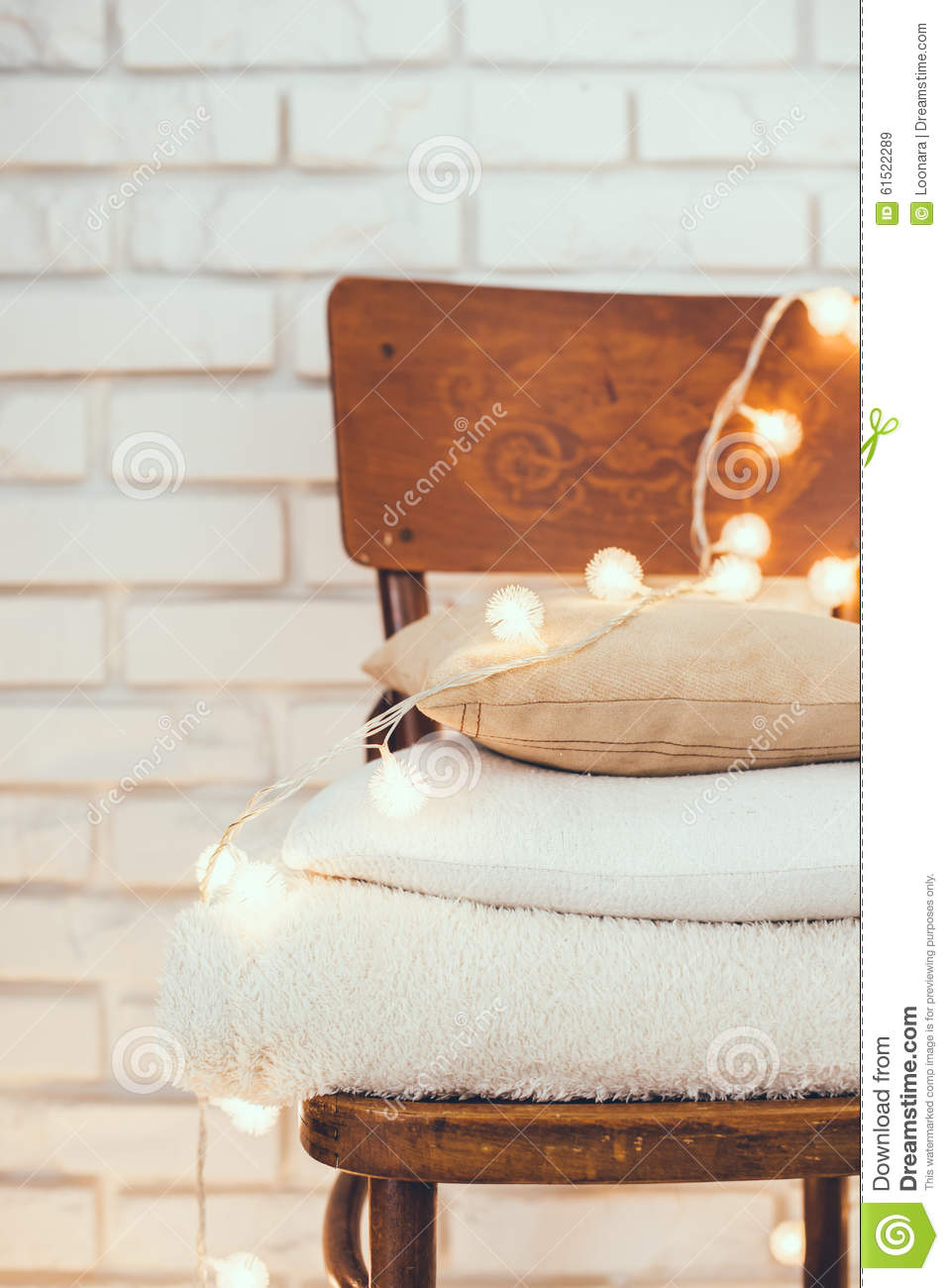 Warm home decor stock image image of peaceful chair 61522289 - Wooden home decor to provide warm atmosphere ...