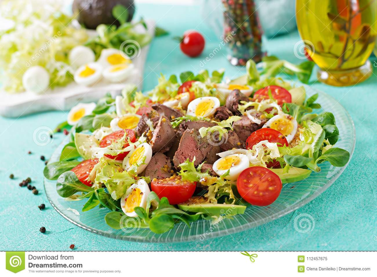 Step by Step Cooking Salad with Liver
