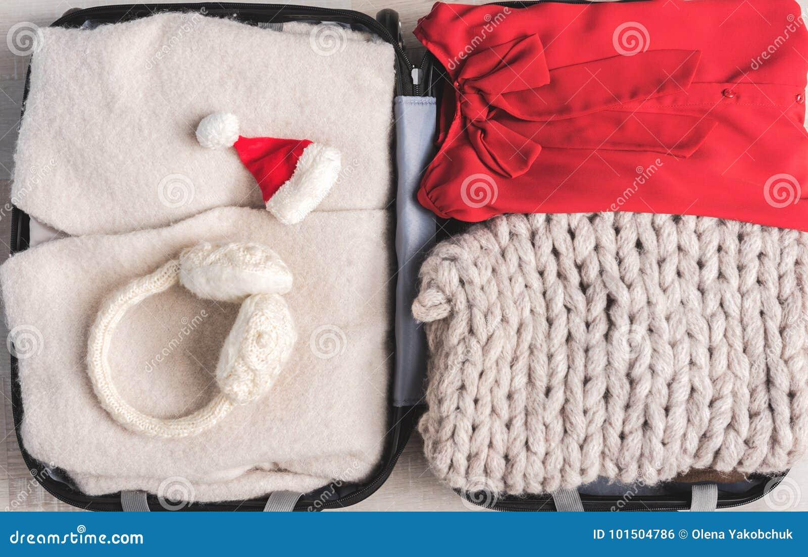 2e62d77e2e6 Female Clothes In Open Suitcase Stock Photo - Image of casual ...