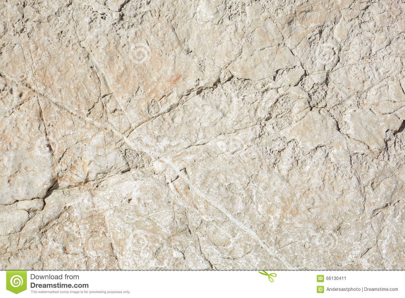 Warm White Stone Texture Background In Sunlight Stock