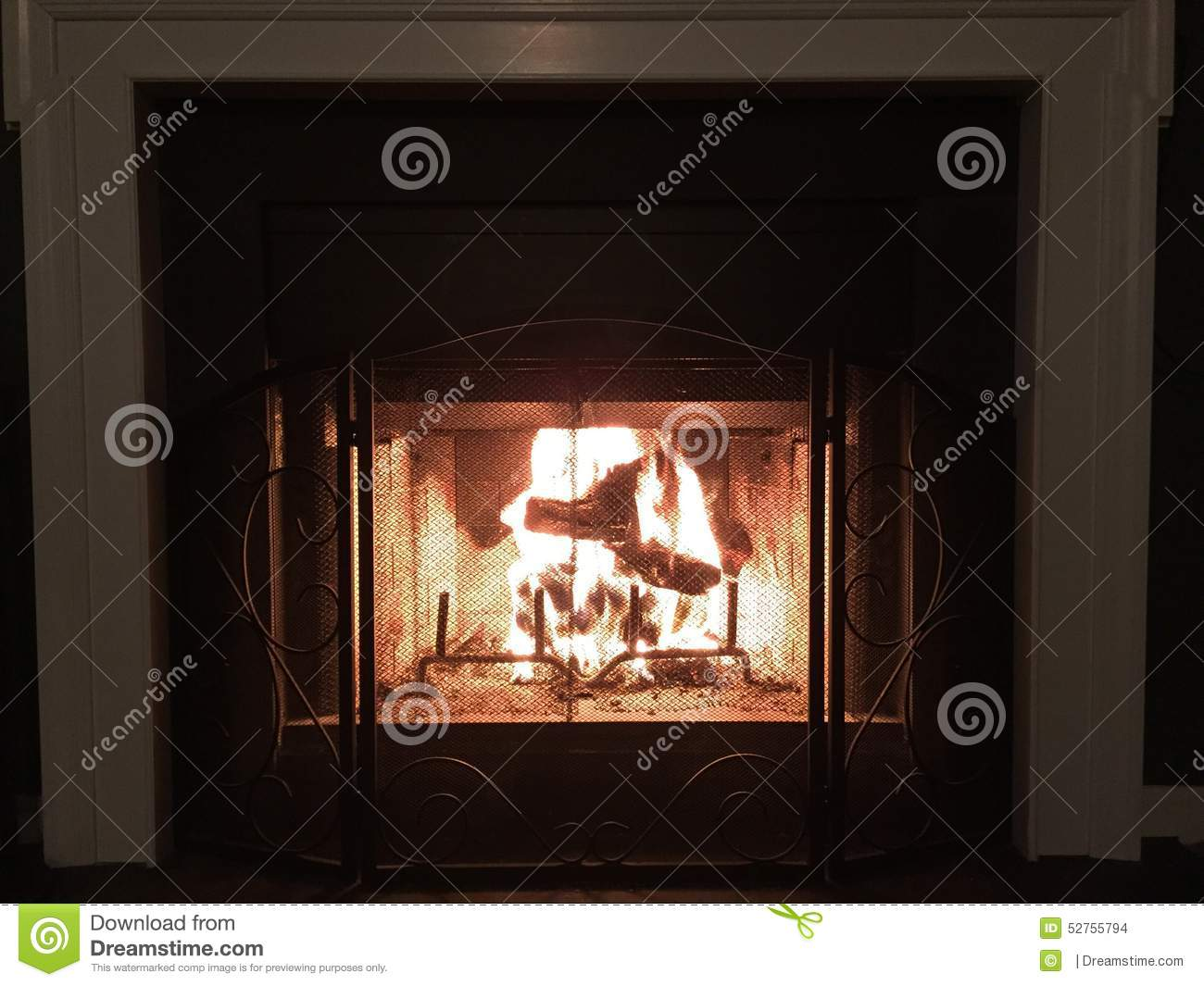 warm winter night by the fire stock photo image 52755794