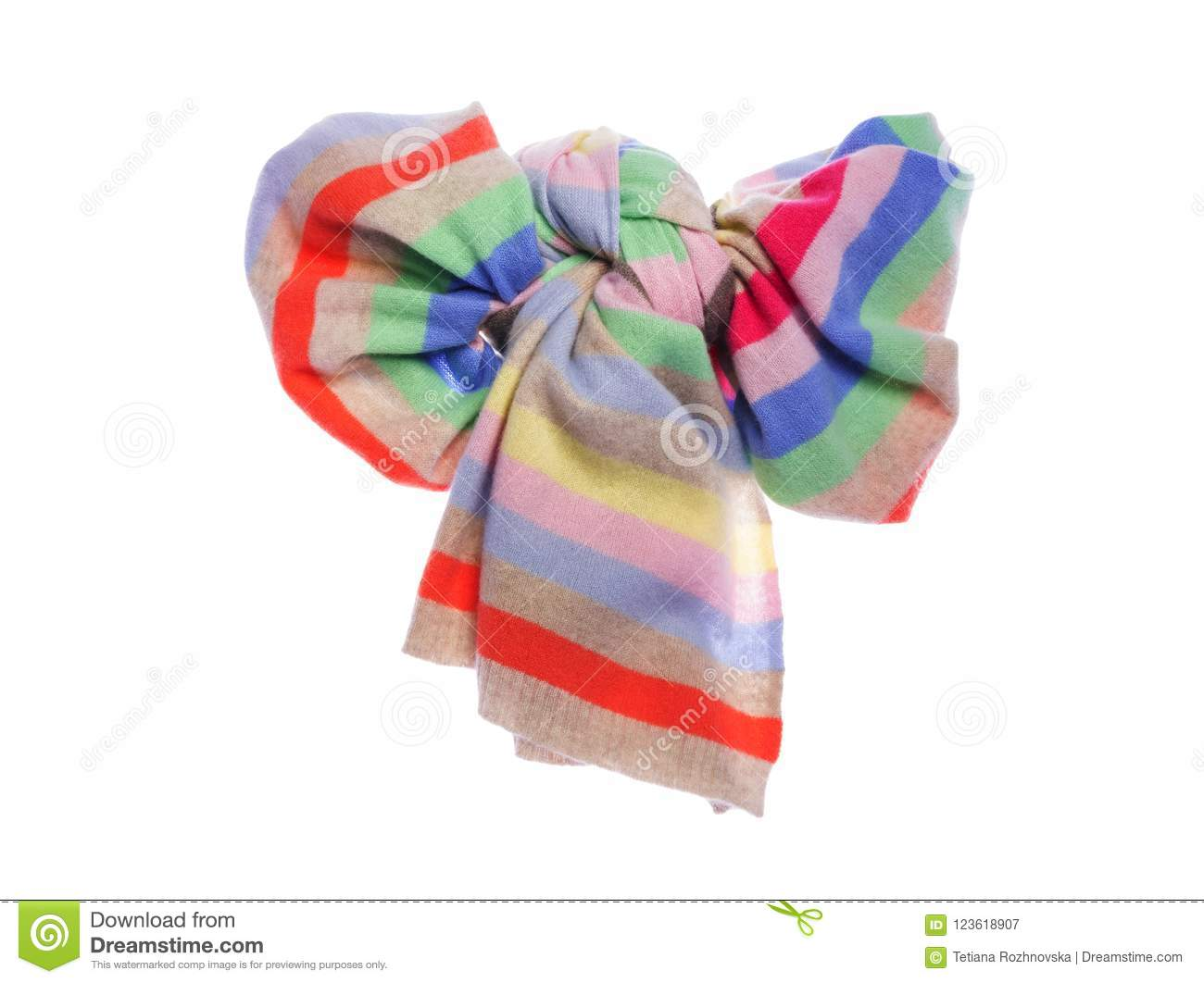 ee83ef1c99286 Warm Winter Scarf, Tied Like A Big Bow. Stock Image - Image of ...