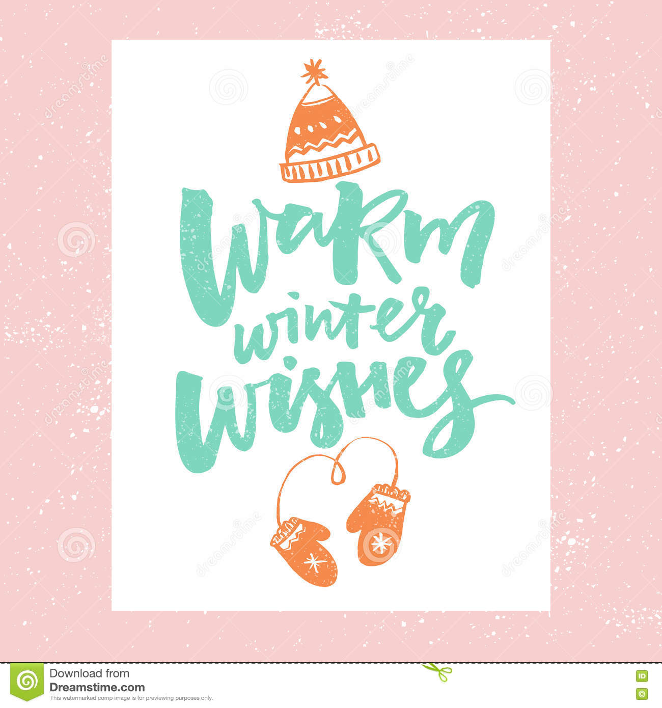 Warm Winter Wishes Christmas Card Design Vector Typography With