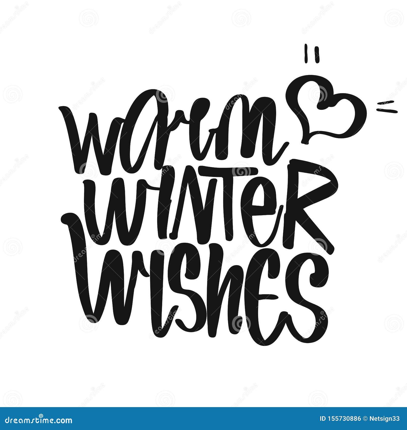 picture regarding Printable Kitchen Art identify Very hot Winter season Desires Handwritten Lettering Inventory Vector