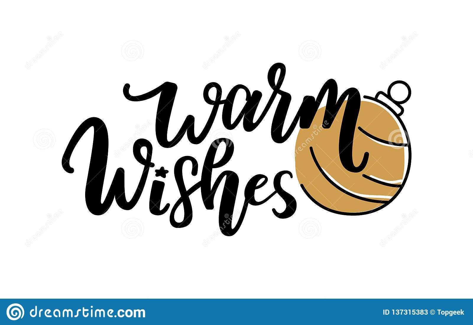 warm wishes quote merry christmas greetings text stock vector