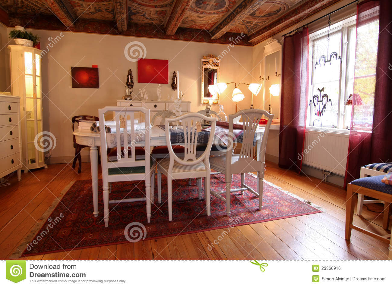 Warm Wooden Dining Room Royalty Free Stock Image Image 23366916