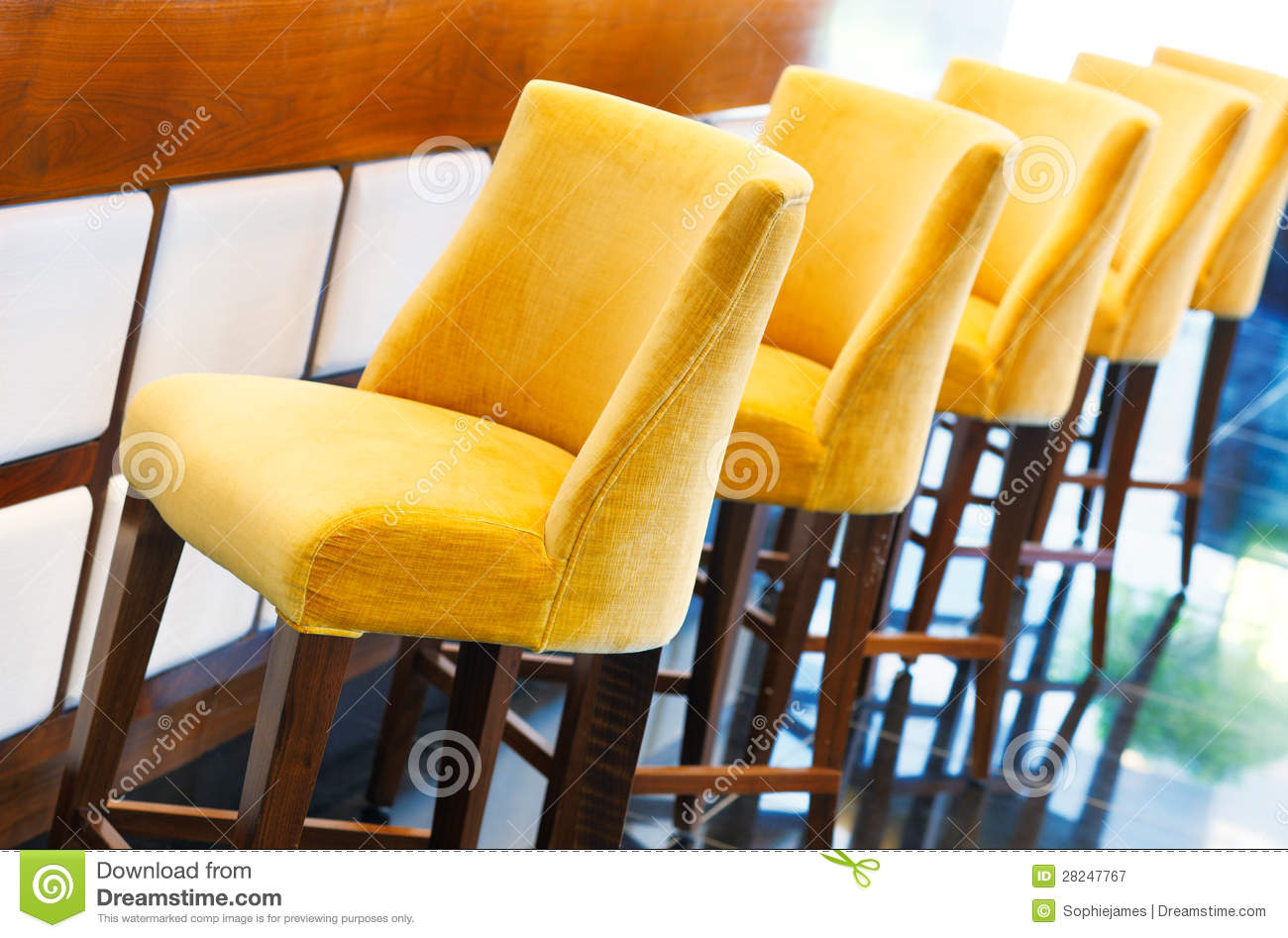 The Warm Yellow Bar Stools Royalty Free Stock Photography  : warm yellow bar stools 28247767 from dreamstime.com size 1300 x 947 jpeg 155kB