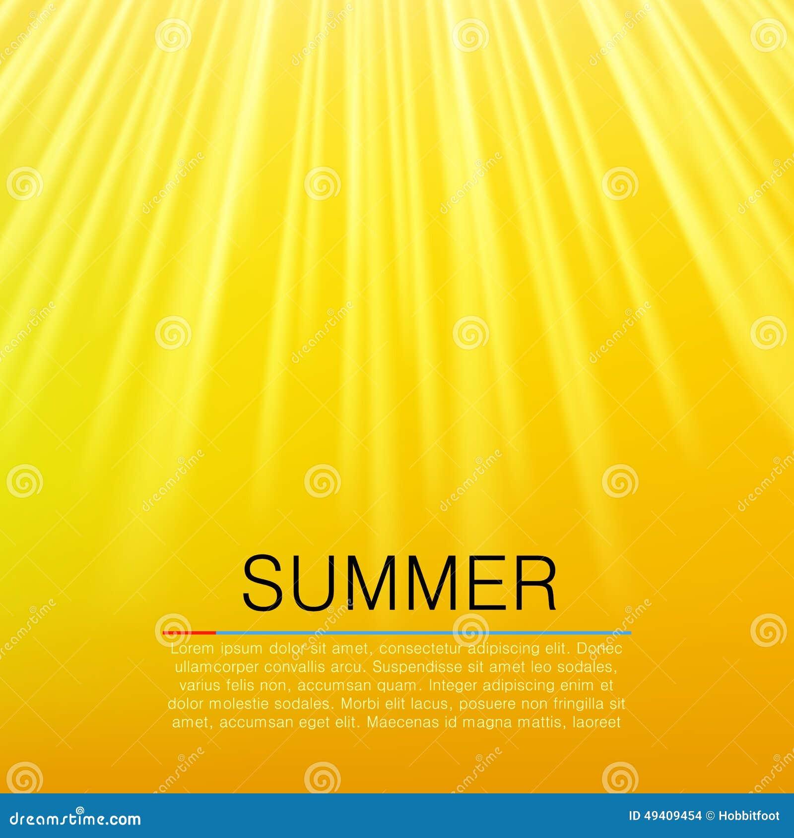Download Warmer Gelber Sonnenstrahl Seashells Gestalten Auf Sandhintergrund Vektor Vektor Abbildung - Illustration von graphik, sonnenschein: 49409454