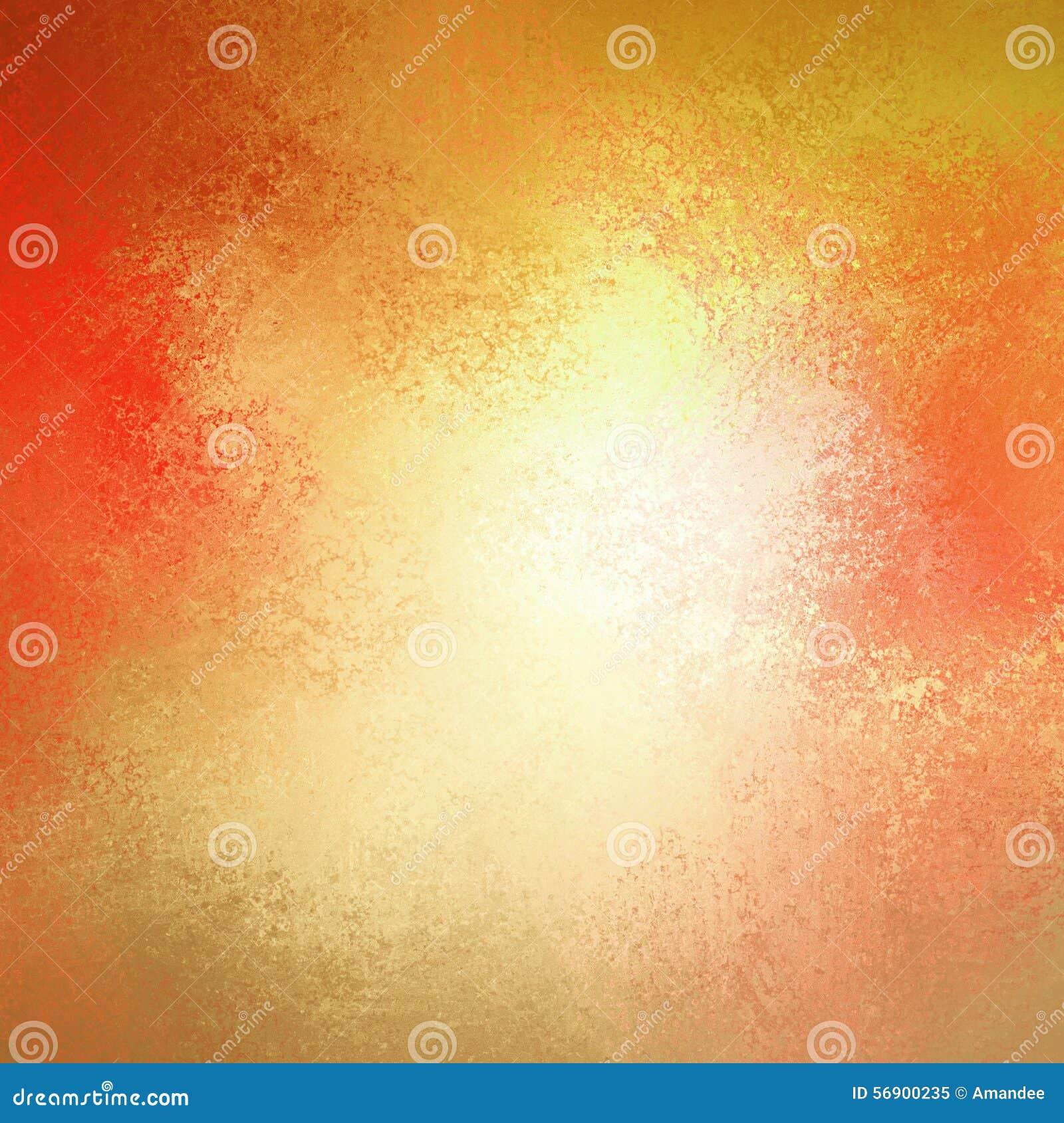 Warmer Herbsthintergrund im roten rosa Gold gelb und orange mit weißer Mitte- und Weinleseschmutzhintergrundbeschaffenheit, bunte