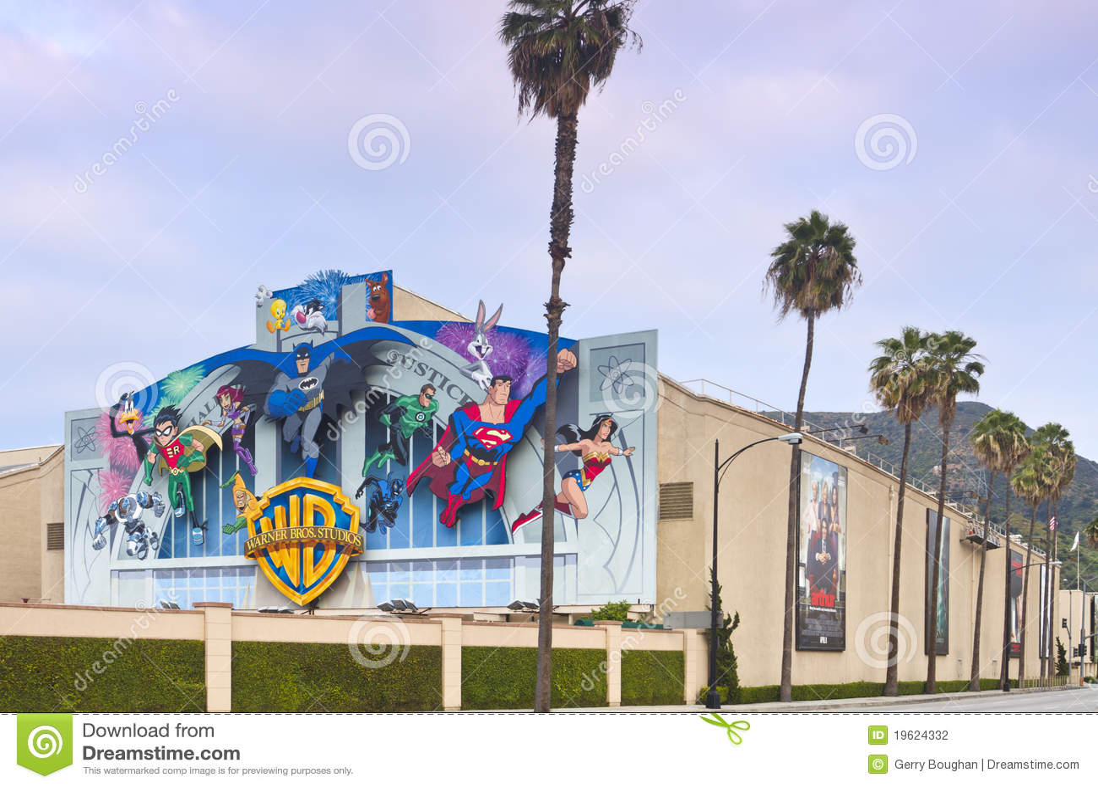 Warner Bros Film Studio In Burbank Ca Editorial