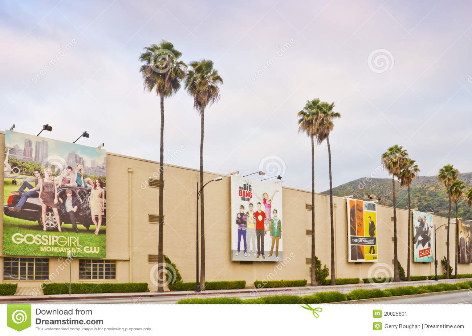 Warner Bros Film Studio In Burbank California Editorial