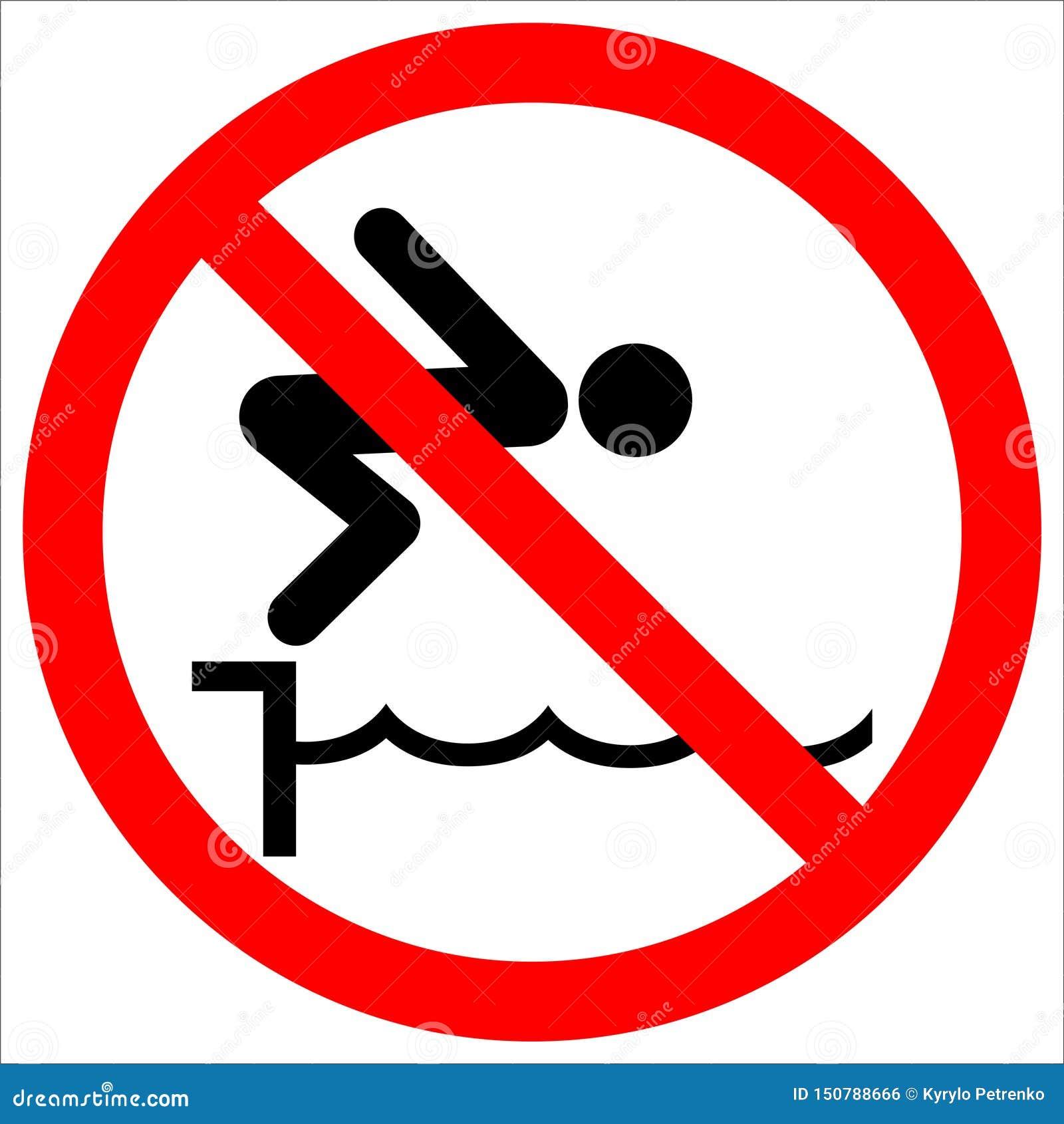 Warnhinweiszeichen springen nicht Pool
