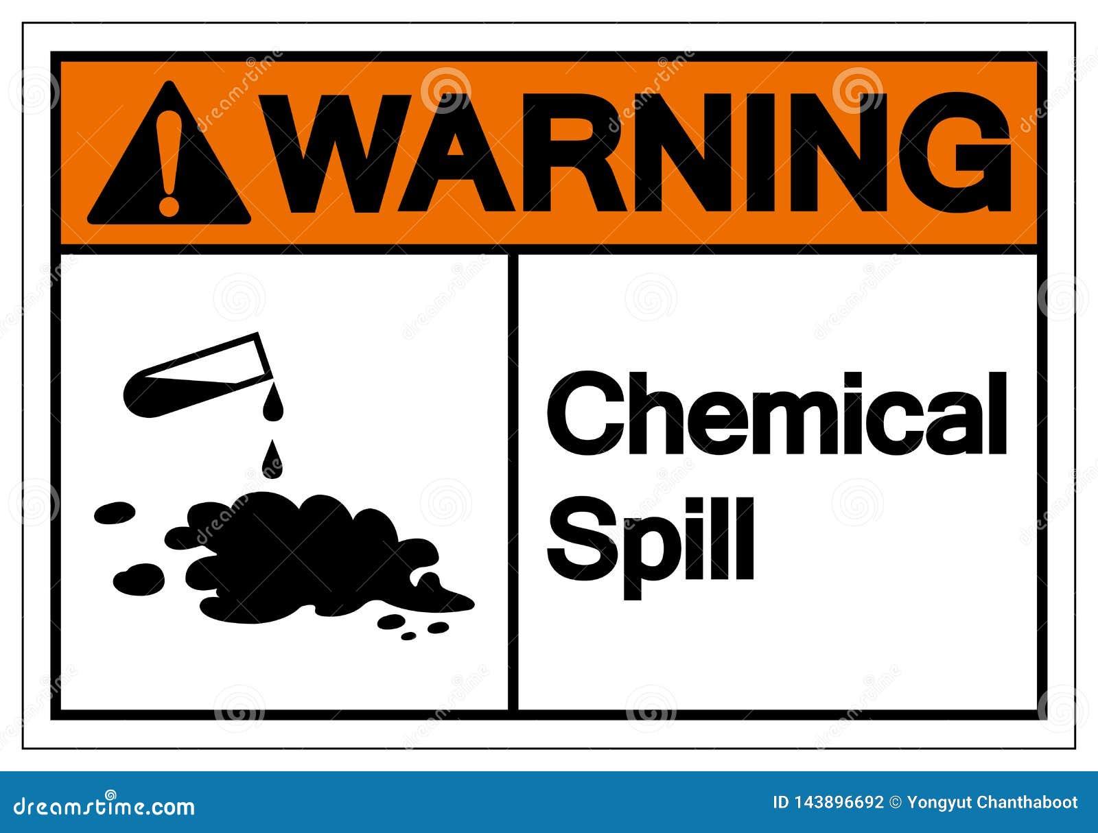 Warning Chemical Spill Symbol Sign, Vector Illustration, Isolate On White Background Label. EPS10