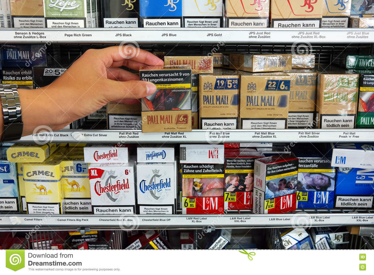 Warning on Cigarette Packs editorial photography  Image of
