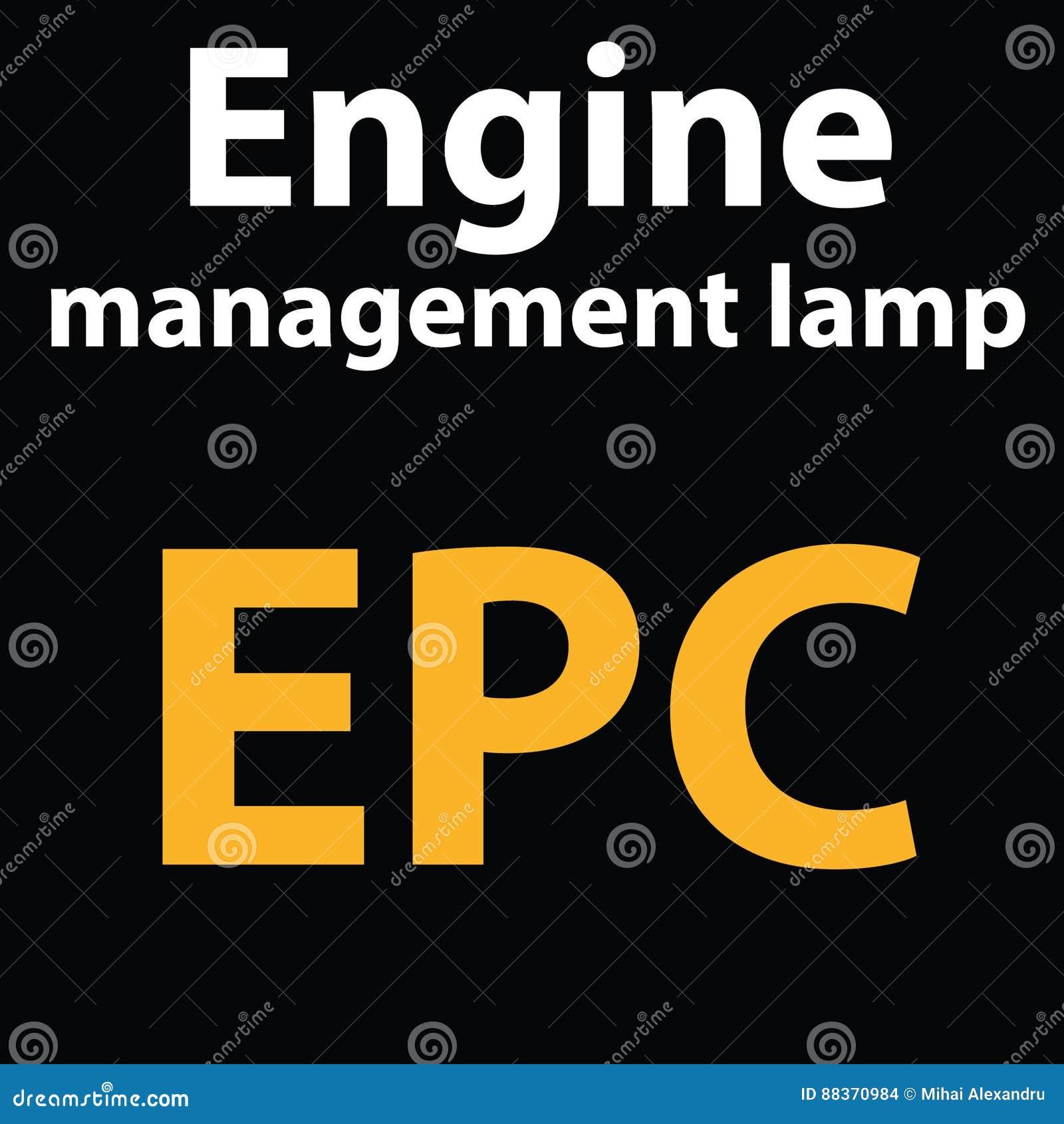 Warning Dashboard Light EPC. DTC Code Engine Management